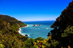 Te Wahipounamu Overlook on the Tasman Sea Royalty Free Stock Photos