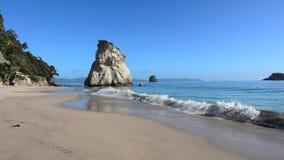 Te Whanganui-A-Hei Cathedral Cove Marine Reserve stock video footage