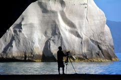 Te Whanganui-A-Hei (domkyrkalilla viken) Marine Reserve Fotografering för Bildbyråer