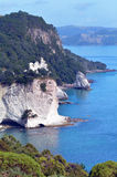 Te Whanganui-A-Hei (domkyrkalilla viken) Marine Reserve Royaltyfri Foto