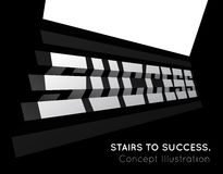 Te word success on the stairs. Royalty Free Stock Photos