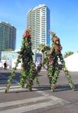 Żywa sztuka: Wiosen drzewa dla centrum miasta obrazy royalty free
