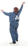 Te zware zwaarlijvige jonge mens Stock Foto