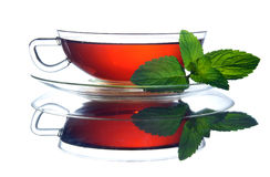 Tea. Cup of tea with mint Stock Image