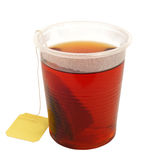 Tea. Hot tea in plastic cup Stock Photos