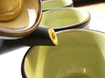 Tea 2. Teapot and cups Stock Image
