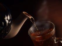 Tea. The dark still life with tea set Stock Photo