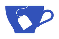 Tea #3. Vector image - a tea cup and teabag silhouette vector illustration
