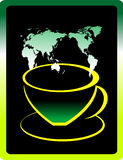 Tea. Cup of tea with abstract design element Royalty Free Stock Images