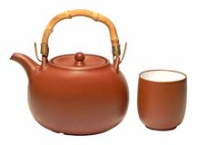 Tea. Pot and cup of Royalty Free Stock Photography