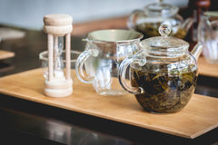Tea accessories on a wood Stock Image