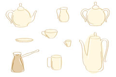 Tea And Coffee Pots. Royalty Free Stock Image