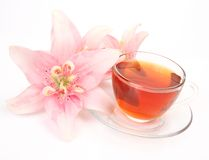 Tea And Flower Royalty Free Stock Photo