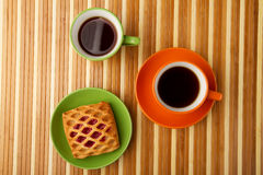 Tea And Puff Royalty Free Stock Images