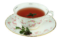 Tea in an Antique Tea Cup Royalty Free Stock Photography