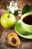 Tea with an apple Stock Photography