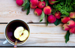 Tea with apple Stock Images