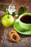 Tea with an apple Royalty Free Stock Photography