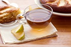 Tea and apple pie Royalty Free Stock Images