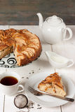 Tea with apple pie Stock Images