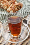 Tea with apple pie Stock Photo