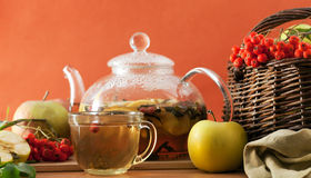 Tea and apples Royalty Free Stock Photo