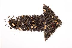 Tea arrow stock image