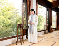 Tea art specialist Bamboo window-China tea ceremony Stock Photo