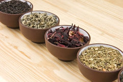 Tea assortment Stock Images