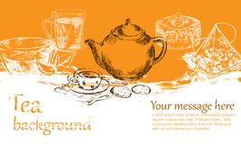 Tea background Stock Photo