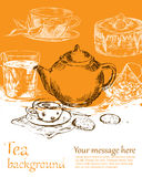 Tea background Stock Photography