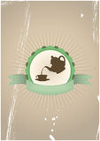 Tea badge Royalty Free Stock Photography