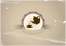 Tea badge Royalty Free Stock Images
