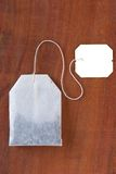 Tea bag. On wooded background Stock Photography
