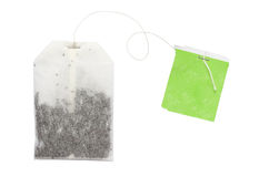 Tea bag. Tea in bag isolated on white background stock photography