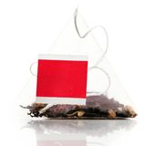 Tea bag. Isolated on white stock image