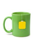 Tea bag in cup Stock Photo