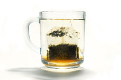 Tea bag in a cup Royalty Free Stock Images