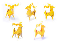 Tea bag deer origami Stock Photography
