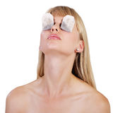 Tea Bag Eye Therapy Stock Images