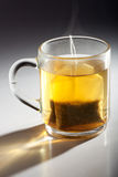 Tea bag. In a glass cup stock photography