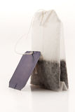 Tea bag with a label Royalty Free Stock Images
