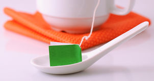 Tea bag label Stock Images