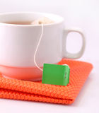 Tea bag label Royalty Free Stock Photography