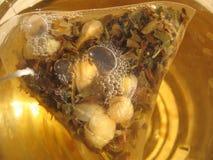 Tea bag. For preparing aromatic jasmine tea Stock Images