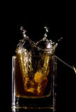 Tea bag splash Stock Photo