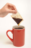 Tea bag and tea Royalty Free Stock Photo