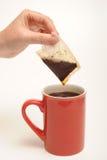 Tea bag and tea Royalty Free Stock Photo