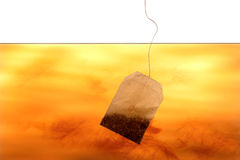 Tea bag in water Stock Photography