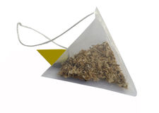 Tea bag on a white background Stock Photos